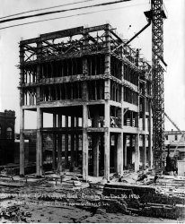 construction of the Crowley main office building